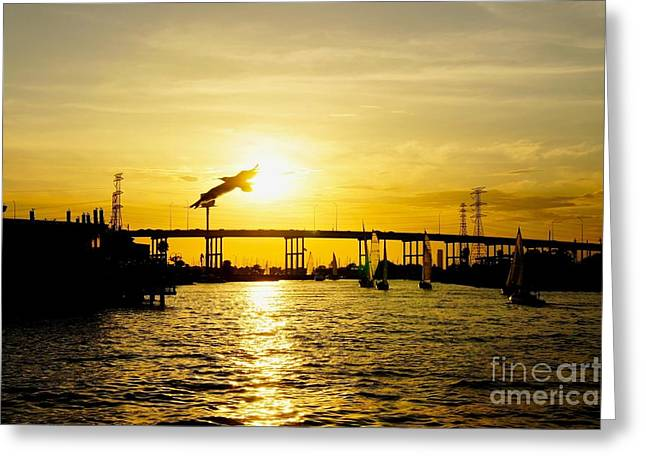 Will Cardoso Greeting Cards - Kemah Sunset Greeting Card by Will Cardoso