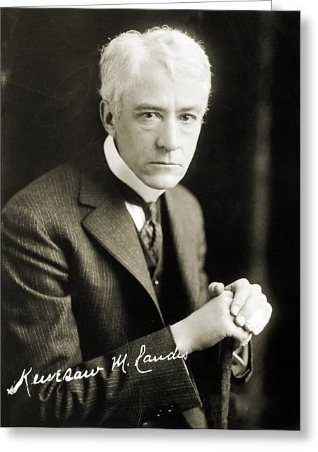 Autographed Baseball Greeting Cards - Kenesaw Mountain Landis Greeting Card by Granger