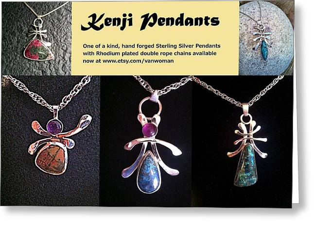 Fashion Jewelry Greeting Cards - Kenji Pendants Greeting Card by Vanessa Williams