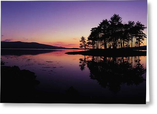 Ocean Panorama Greeting Cards - Kenmare Bay, Co Kerry, Ireland Sunset Greeting Card by The Irish Image Collection