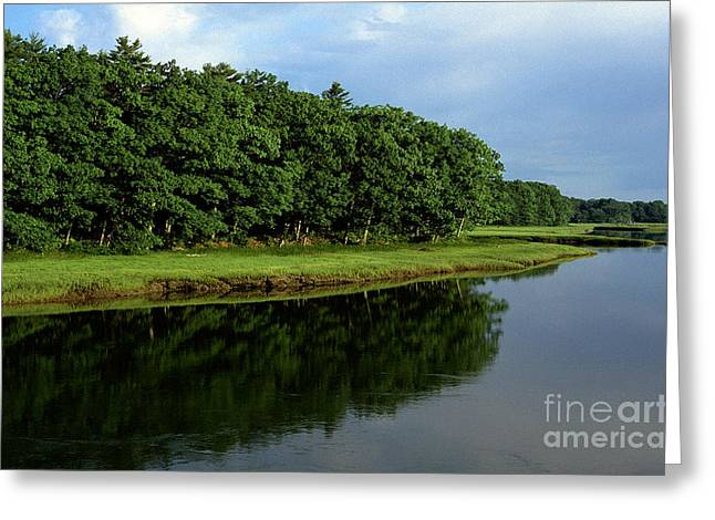 Maine Shore Greeting Cards - Kennebunk River Morning Light Greeting Card by Thomas R Fletcher