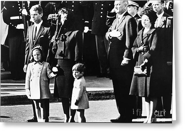 Lady Washington Greeting Cards - Kennedy Funeral, 1963 Greeting Card by Granger