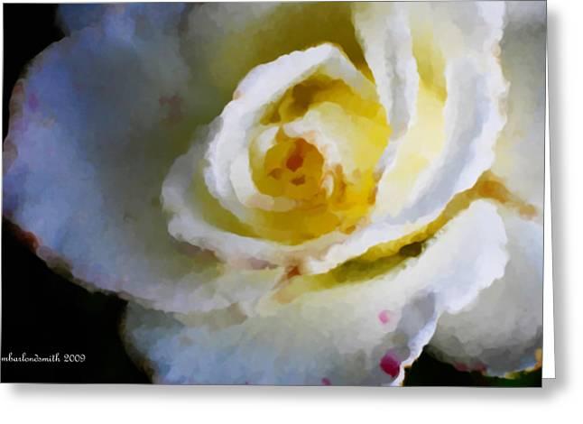 Photo Impressionist Greeting Cards - Kennedy Rose Impression  Greeting Card by Michelle  BarlondSmith