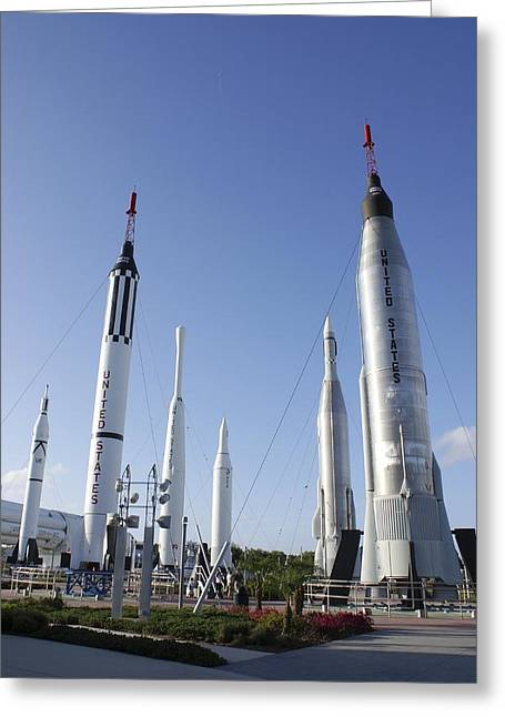 Thor Greeting Cards - Kennedy Space Center Rocket Garden Greeting Card by Mark Williamson