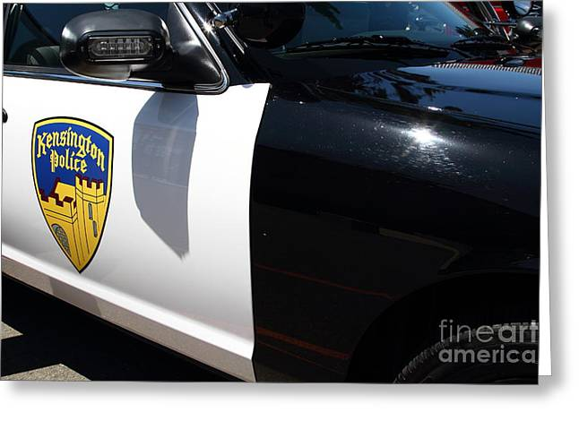 Police Department Greeting Cards - Kensington California Police Car . 7D15876 Greeting Card by Wingsdomain Art and Photography