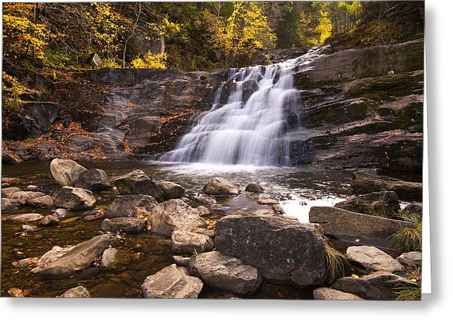 Kent Falls Greeting Cards - Kent Falls in Autumn Greeting Card by Stephanie McDowell