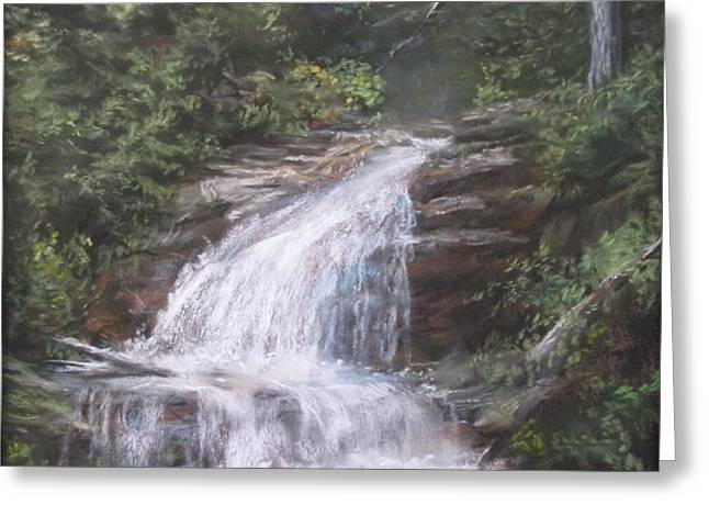 Kent Falls Greeting Card by Jack Skinner