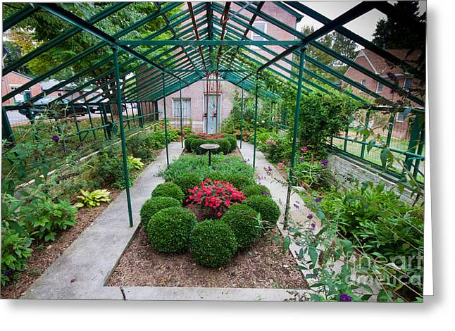 Kentlands Greenhouse Greeting Card by Thomas Marchessault