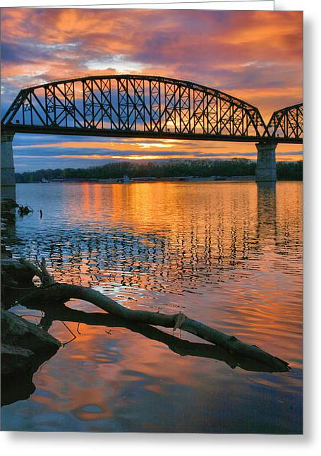 Railroads Framed Prints Greeting Cards - Kentuckiana Sunrise Greeting Card by Steven Ainsworth