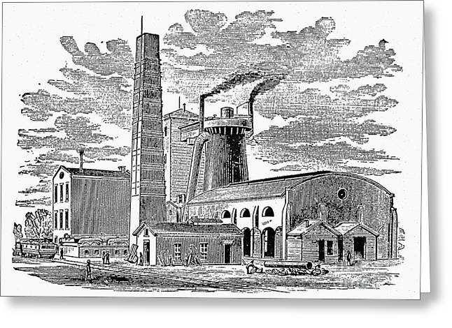 1876 Greeting Cards - Kentucky: Factory, 1876 Greeting Card by Granger