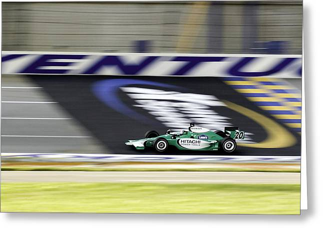 Indy Car Greeting Cards - Kentucky Speedway IRL Greeting Card by Keith Allen