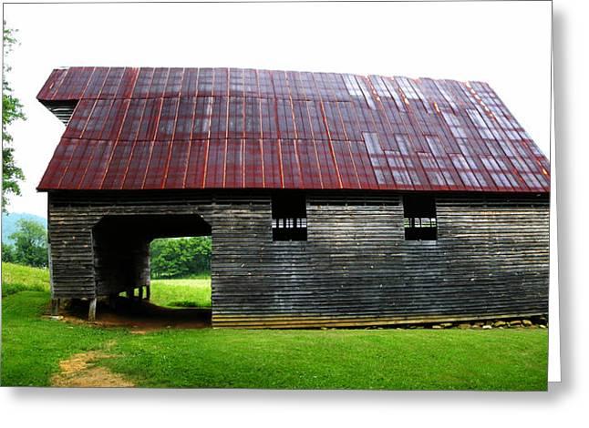 Tin Roof Greeting Cards - Kermit Caughron Barn Greeting Card by Paul Mashburn