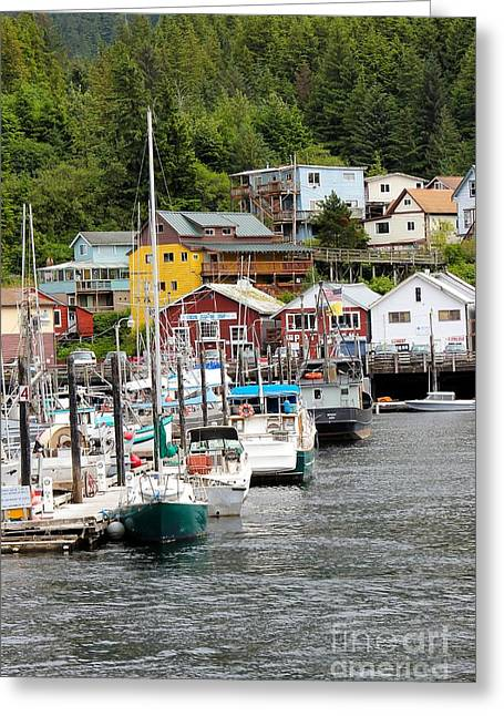 Port Town Greeting Cards - Ketchikan Alaska Greeting Card by Sophie Vigneault