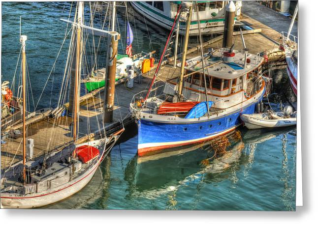 Wooden Ship Greeting Cards - Ketchikan Harbor Greeting Card by Don Mennig