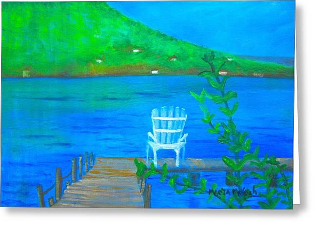 Keuka Paintings Greeting Cards - Keuka Lake Greeting Card by Marita McVeigh