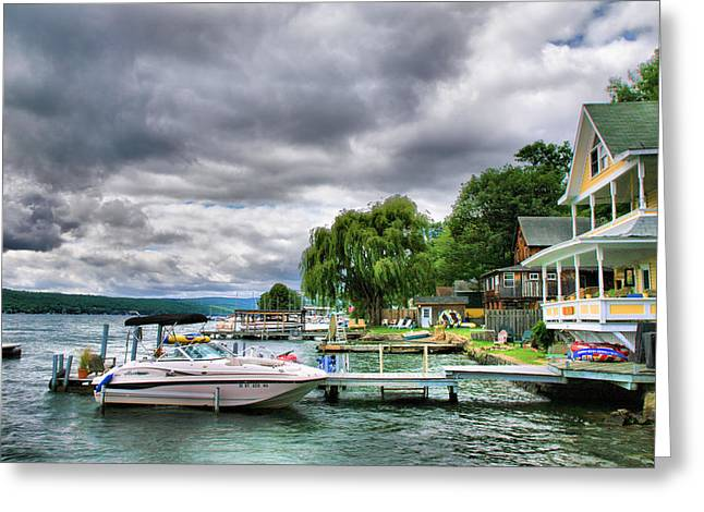 Lake Photographs Greeting Cards - Keuka Lake Shoreline Greeting Card by Steven Ainsworth