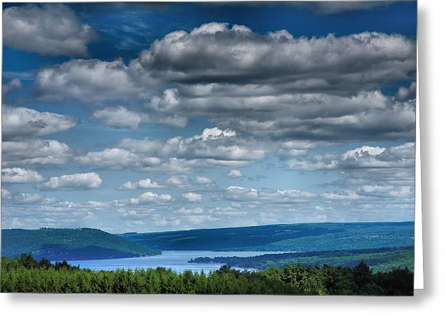 Pastoral Vineyard Greeting Cards - Keuka Landscape IV Greeting Card by Steven Ainsworth