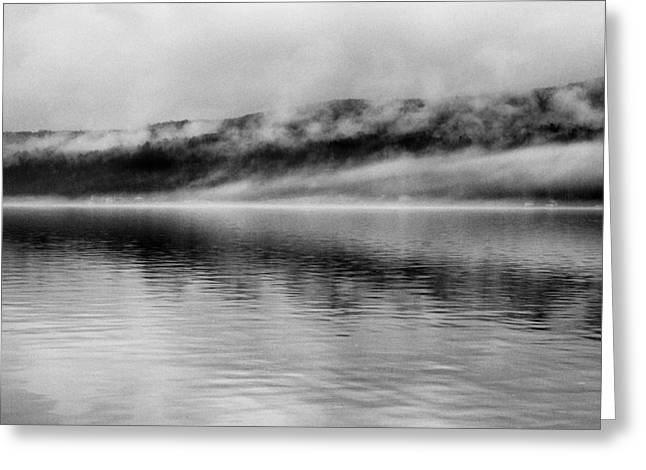 Lakescape Greeting Cards - Keuka Mists Greeting Card by Joshua House