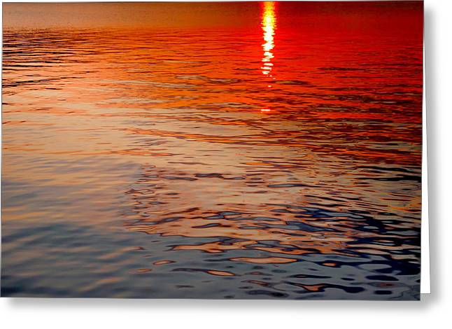 Finger Lakes Greeting Cards - Keuka Sunbeam Greeting Card by Steven Ainsworth