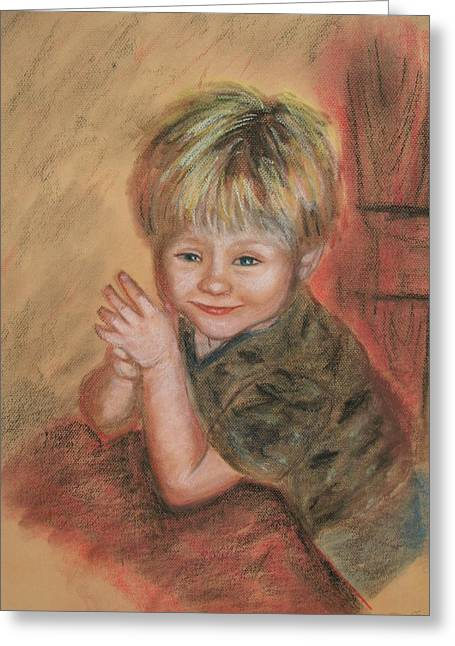 Soft Light Pastels Greeting Cards - Kevins Secret Greeting Card by Penny Ross