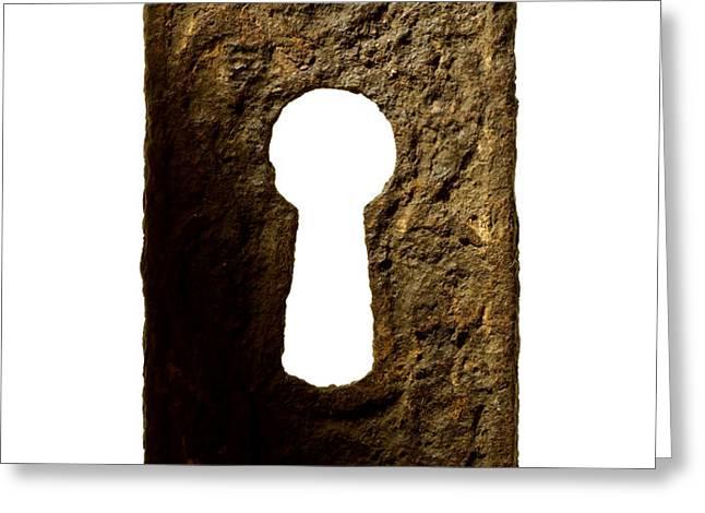 Key hole Greeting Card by Tony Cordoza