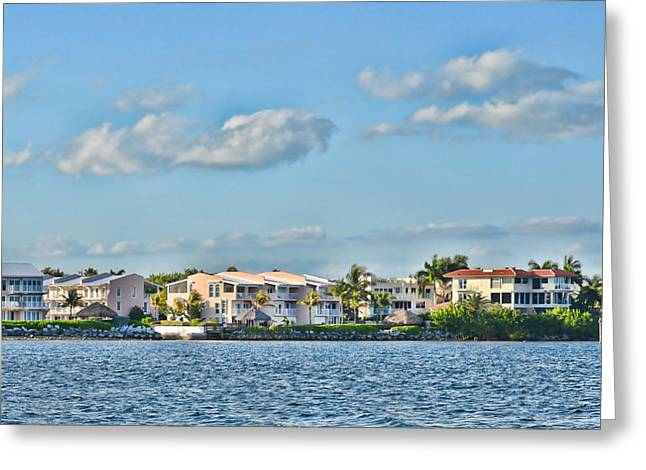 Mile Marker Greeting Cards - Key Largo Houses Greeting Card by Chris Thaxter