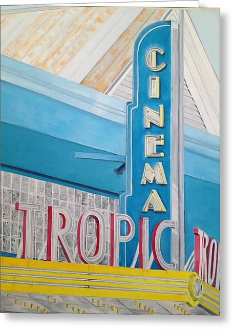 John Schuller Art Greeting Cards - Key West - Tropic Cinema Greeting Card by John Schuller