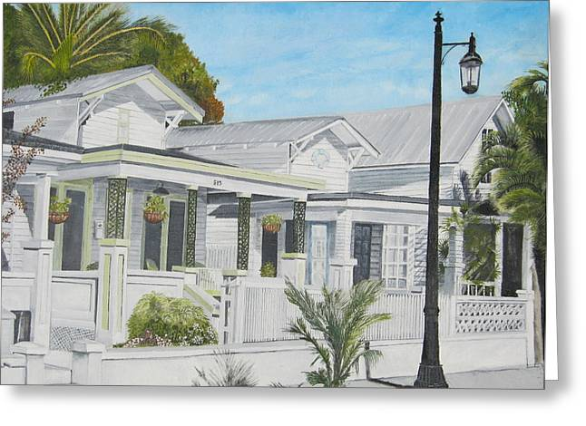 John Schuller Art Greeting Cards - Key West - Whitehead Street Greeting Card by John Schuller