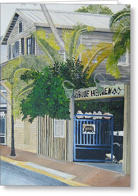 Key West Greeting Cards - Key West Blue Heaven Greeting Card by John Schuller