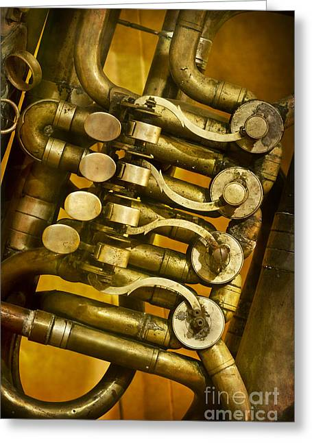 Gold Buttons Greeting Cards - Keys Greeting Card by Margie Hurwich