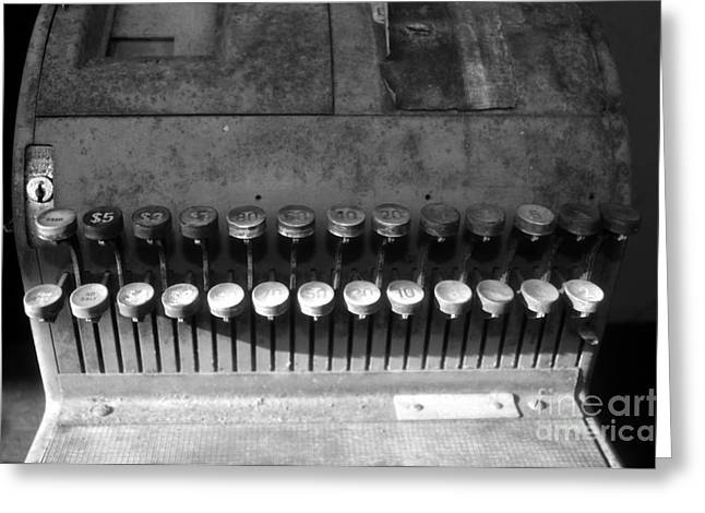 Old Cash Register Keys Greeting Cards - Keys to commerce Greeting Card by David Lee Thompson