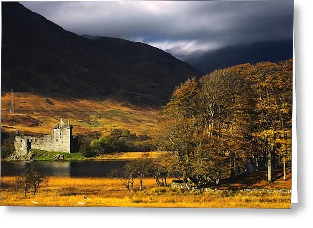 Kilchurn Castle Greeting Cards - Kilchurn Castle, Scotland Greeting Card by John Short