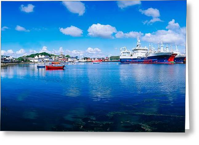The Tourist Trade Greeting Cards - Killybegs Harbour, Co Donegal, Ireland Greeting Card by The Irish Image Collection