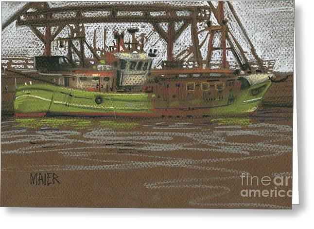 Trawler Greeting Cards - Kilmore Quay Fishing Trawler Greeting Card by Donald Maier