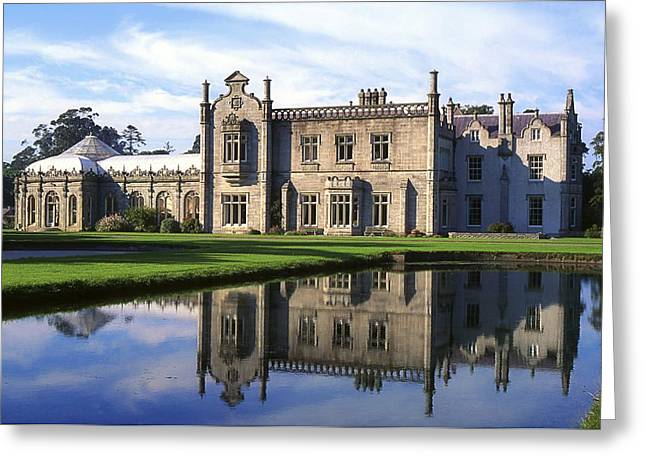Reflections Of Sky In Water Photographs Greeting Cards - Kilruddery House And Gardens, Co Greeting Card by The Irish Image Collection