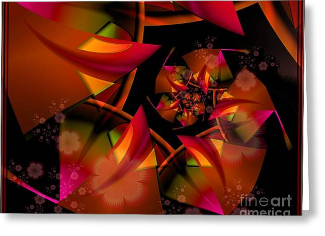 Ultra Modern Greeting Cards - Kimono Greeting Card by Michelle H