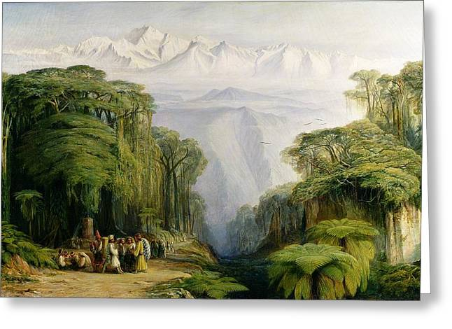 Trader Greeting Cards - Kinchinjunga from Darjeeling Greeting Card by Edward Lear