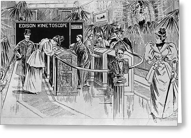 1890s Greeting Cards - KINETOSCOPE, 1890s Greeting Card by Granger