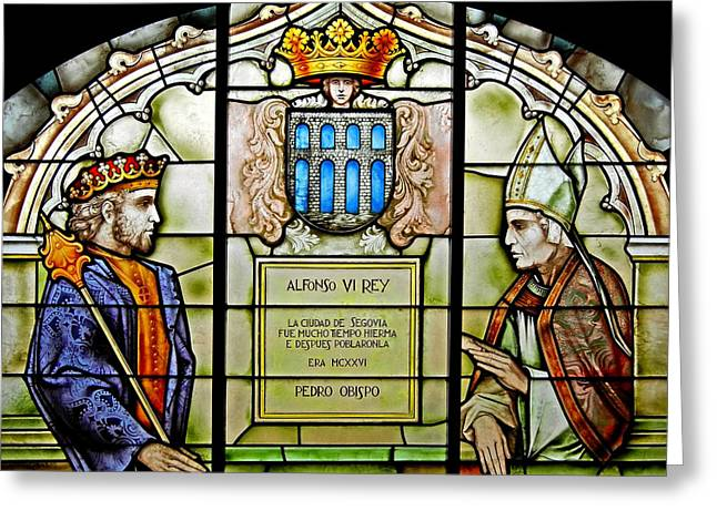 Farbenfroh Greeting Cards - King Alfonso VI ... Greeting Card by Juergen Weiss