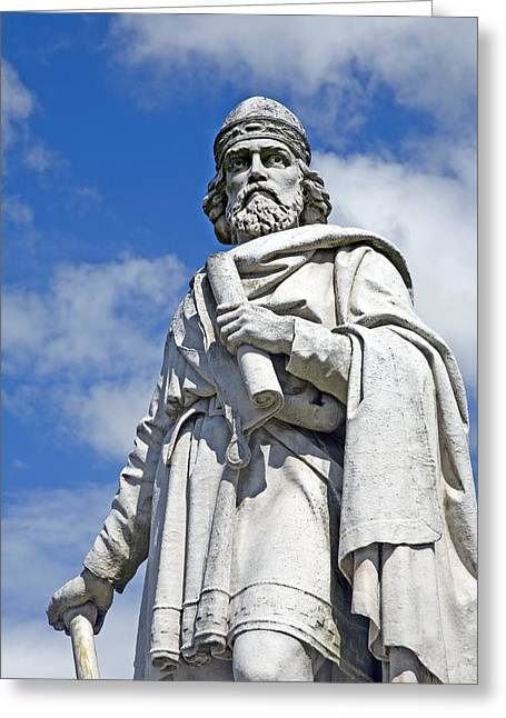 Scholarship Greeting Cards - King Alfred The Great Of England Greeting Card by Sheila Terry