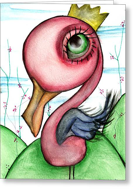 Swan Greeting Cards - King for a day Greeting Card by  Abril Andrade Griffith