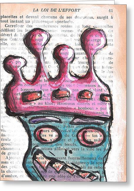 Urban. Sketch Greeting Cards - King Greeting Card by Jera Sky