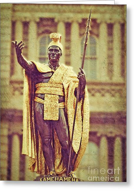Kamehameha Greeting Cards - King Kamehameha Greeting Card by Paul Topp