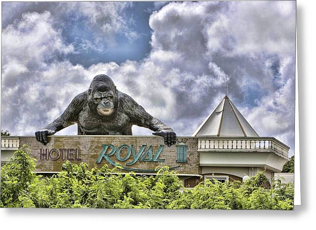Karen Walzer Greeting Cards - King Kong Hotel Greeting Card by Karen Walzer