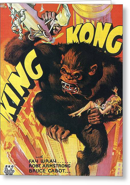 Wray Greeting Cards - King Kong Greeting Card by Nomad Art And  Design