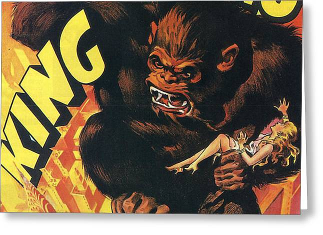 King Kong Greeting Card by Nomad Art And  Design