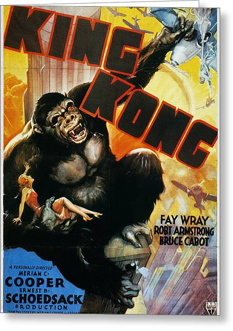 Wray Greeting Cards - King Kong Poster, 1933 Greeting Card by Granger