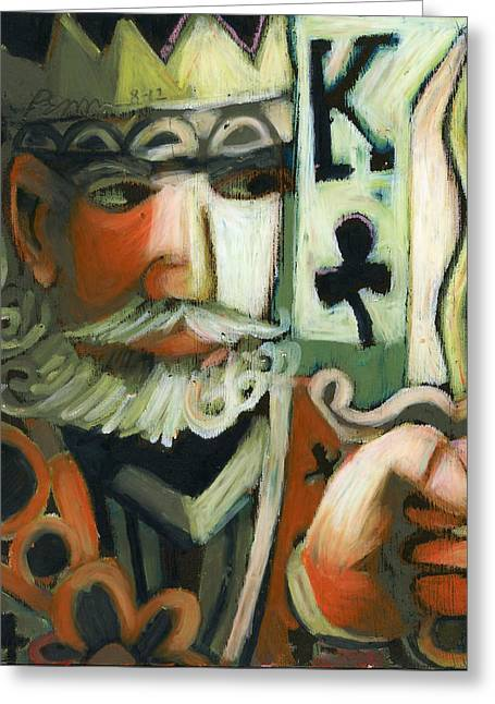 Playing Pastels Greeting Cards - King of Clubs Greeting Card by Erik Pearson