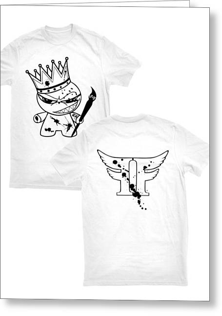 Tshirt Tapestries - Textiles Greeting Cards - King Of Emagee Nation Tee Greeting Card by Joseph Boyd