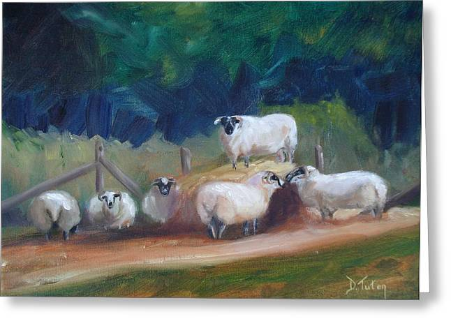 King of Green Hill Farm Greeting Card by Donna Tuten
